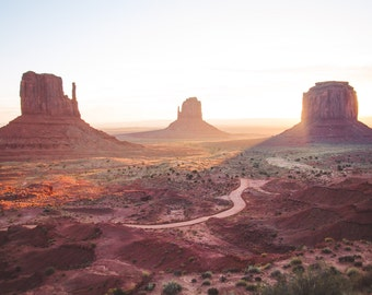 Monument Valley Sunrise Profits Donated to Charity, Art, Home Decor, Print or Canvas