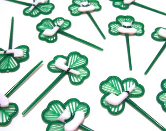 12 Shamrock Cupcake Picks