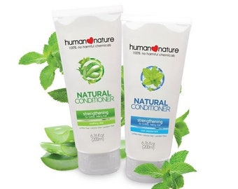 Human Nature Natural Strengthening Conditioner for brittle, falling hair in Soothing Aloe, 200 ml