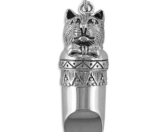 Cat Sterling Silver Whistle