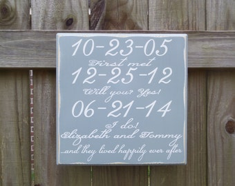 Custom Wedding Sign, Wedding Gift, Personalized Wedding Sign, Gift for Couple, Gift for Bride, Engagement Gift, Custom Wood Sign, Date Sign