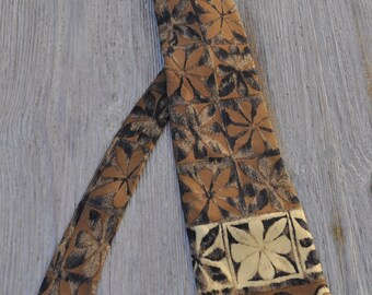 Cravate vintage en soie DANIEL HECHTER 148x9,5