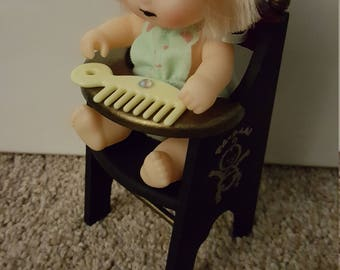Baby doll with high chair!