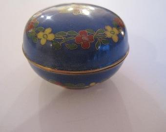 Vintage Round Cloisonne Box