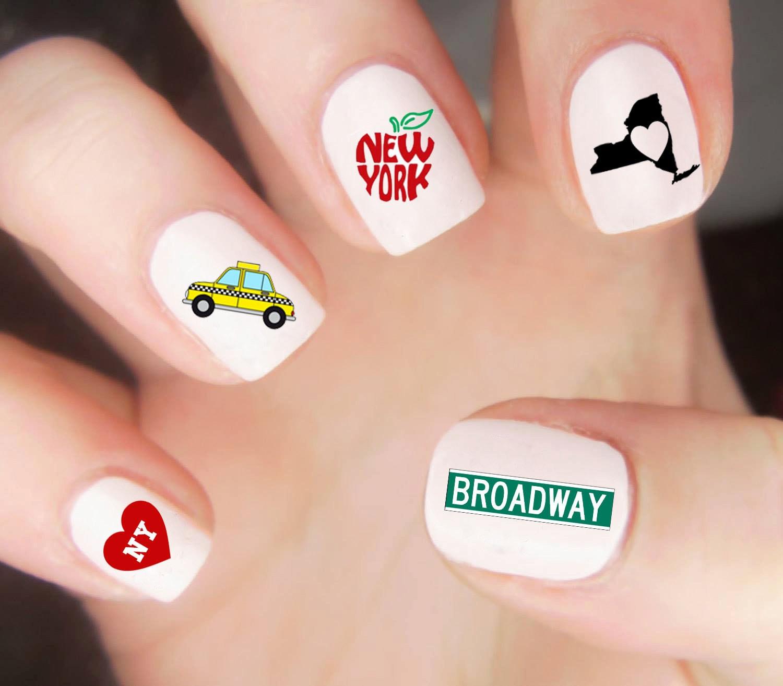 New York Nail Decals / New York Nail Wraps / New York Nail Art / NY ...