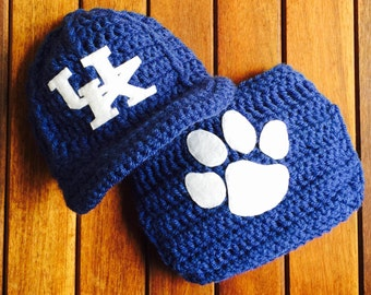 Newborn University of Kentucky Wildcats baby cap diaper cover set