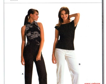 08 Burda 7766 Fitted Pants in Two Lengths, Uncut, Factory Folded, Sewing Pattern Multi Plus Size 12-26