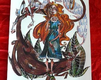 PRINT: Alice in Wonderland A4