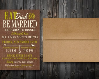 Rehearsal Dinner Invitations (100)