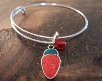 Christmas bracelet red light