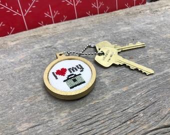 I love my Instant Pot keychain ornament or decoration cross stitched by Canadian Stitchery
