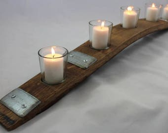 Napa Valley Wine Barrel Stave Votive Candle Holder