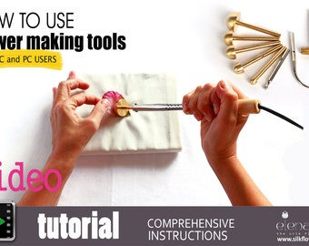 Video tutorial How artistically use professional flower making tools