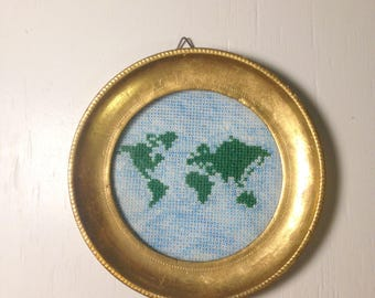 World Map - cross stitch