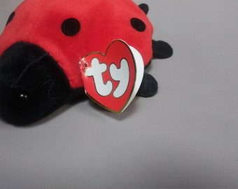 Ty Beanie Babies 7 dot Lucky the Ladybug, no name on Tush tag
