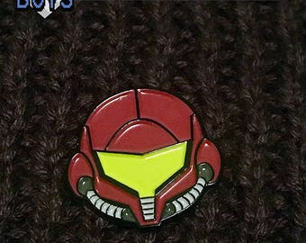 Samus Enamel Lapel Pin - Metroid - Super Smash. Bros