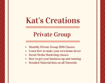 3 Month Membership to Kat's Creations Private Group