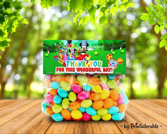 Mickey Candy Topper - Mickey Goodie Bag - Mickey Treat Bag - Mickey Candy Bag - Mickey Candy - Mickey Party Kit - Mickey Party Set
