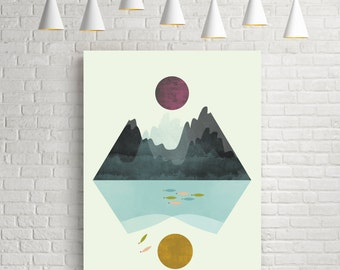 Geometric art, geometric poster, geometric print, geometric wall art, abstract art, abstract print, abstract wall art, wall art, wall decor