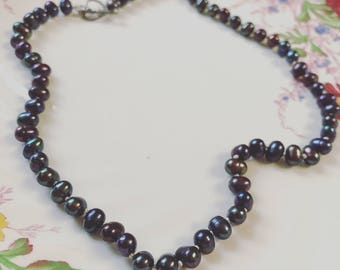 Classic Black Pearl Necklace