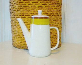 Japanese Coffee Pot Speckled Stoneware Minimalist Earth-Tones PREMIERE NuStone c1000 Vintage Serving Ware