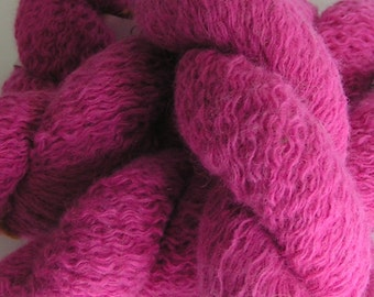 yarn angora lambswool lace SALE laceweight HOT PINK Recycled 20 grams approx 100 yards knitting
