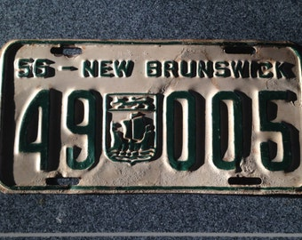 1956 New Brunswick license plate