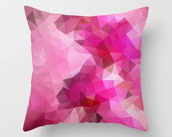 Pink Throw Pillow Pattern Throw Pillow Cover Pillow Case Designer Throw Decorative Geometric Pillow Cover Pillow Accent Pillow Pink Pillow