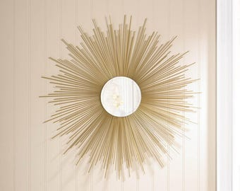 Mid Century Style Golden Rays Mirror
