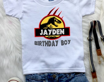Jurassic Park Birthday Boy, Dinosaur Birthday Shirt, Birthday Girl T-Rex Shirt, Custom Birthday Tees, Personalized Shirt for Family B161