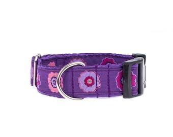 Dog collar,collar for dog, collars for dogs, purple, collars