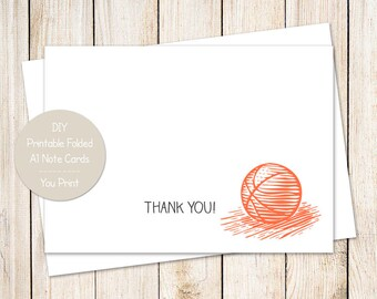 basketball thank you cards . folded stationery . blank note cards . sports notecards . birthday thank you .  INSTANT DOWNLOAD