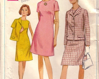 Vintage Simplicity 7450 Dress and Jacket Size 16, Size 18