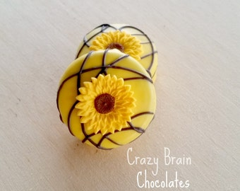 Chocolate Dipped Sunflower Oreos (12)