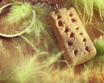 Shortbread Biscuit Keyring