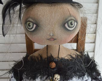 Primitive Folk Art Doll, Primitive Witch Doll, Primitive Folk Art Witch Doll, Primitive Doll, Primitive Home Decor, Primitive Folk Art