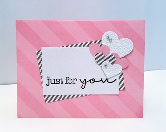 Set of 4 Just or You/Thinking of You Note Cards/Handmade/All Occasion