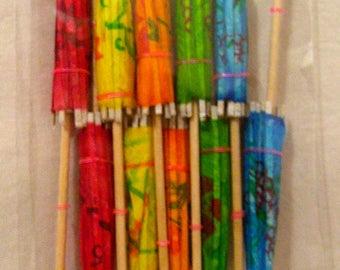 Tropical Drink Umbrellas 10 Tiki Party Supplies
