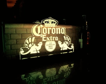 Corona Extra Beer Multi color LED Sign with Remote Control -  Made In USA!  -  Great for a Bar - Pub - Man Cave - Game Room - Club
