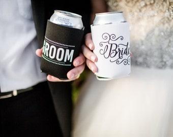 Bride groom koozies   Etsy