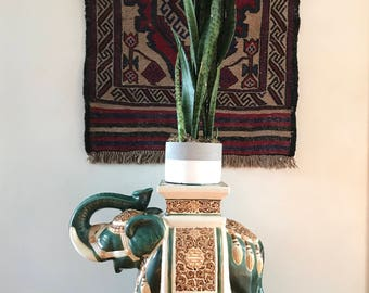 Elephant Plant Stand   Vintage Ceramic Planter   Side Table   Garden Stool