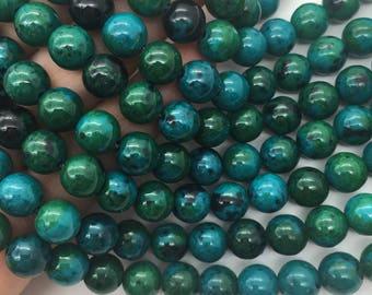 1Full Strand 8mm Chrysocolla Round Beads,Wholesale Gemstone For Jewelry Making