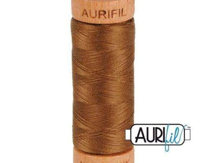 Aurifil 80wt -  Dk Antique Gold 2372