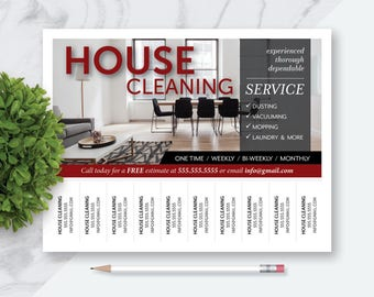 Made to Order House Cleaning Services Tear Off Marketing Flyer, Cleaning Services Flyer, Tear Off Advertising Flyer, Printable Digital File