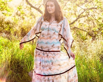 1970s Butterfly Maxi