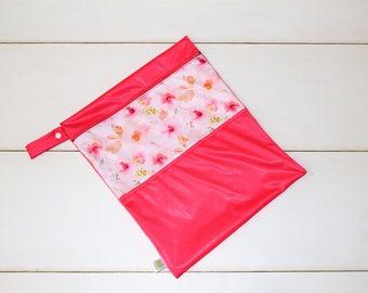 Pink vintage floral bag