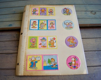 Vintage Garfield Stickers Unused Unstuck - Copyright 1978 United Feature Syndicate - 1980s