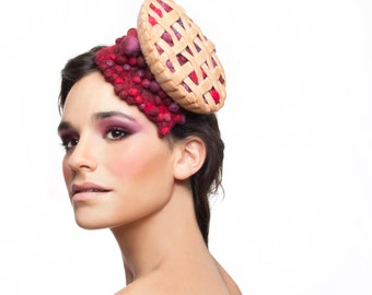 MADE TO ORDER Berry Pie Fascinator, Delicious Dessert Headpiece