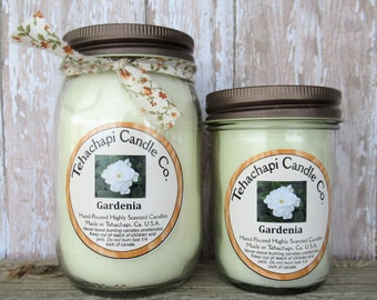 Gardenia Candle - Scented Soy Candle - Jar Candles - Wax Melts - Smelly Jellies - Votive Candles - Air Fresheners - Scented Candles