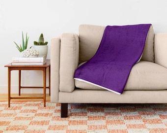 Purple Blanket, Purple Bedding, Purple Throw Blanket, Purple Fleece Blanket, Purple Toss Blanket, Purple Bed Blanket, Purple Couch Blanket